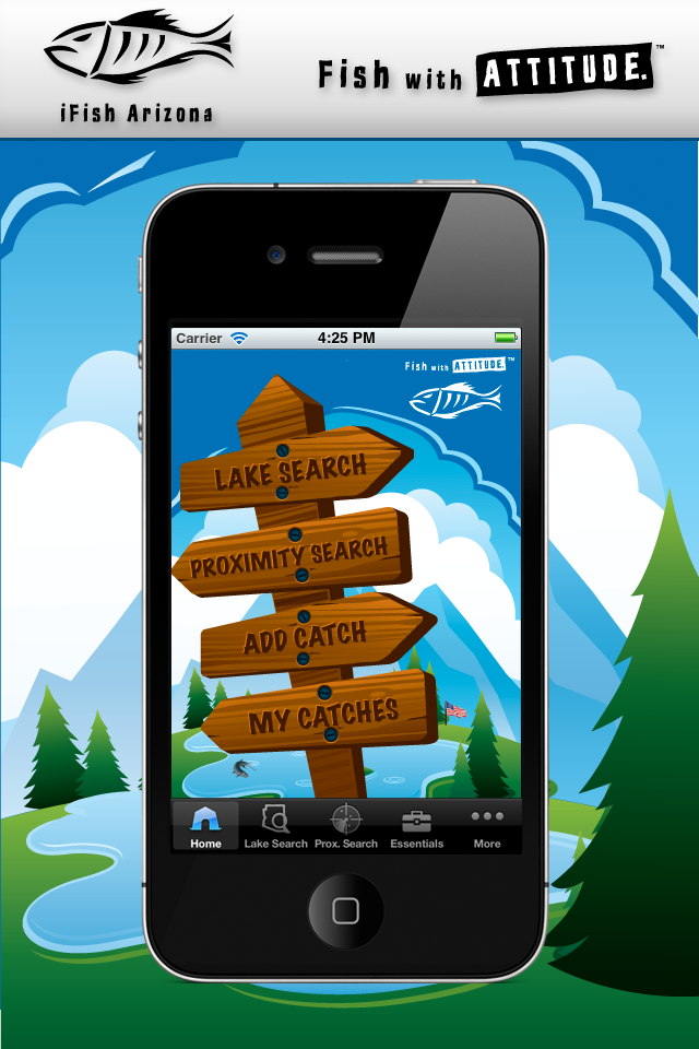 iFish Arizona App Home Screen